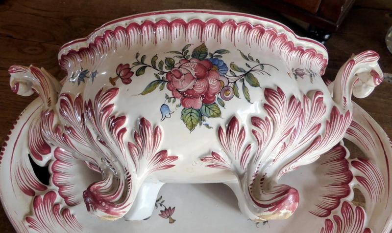 Soupiere plat malicorne emile tessier deb xx french porcelain soup ture - Objet vintage occasion ...